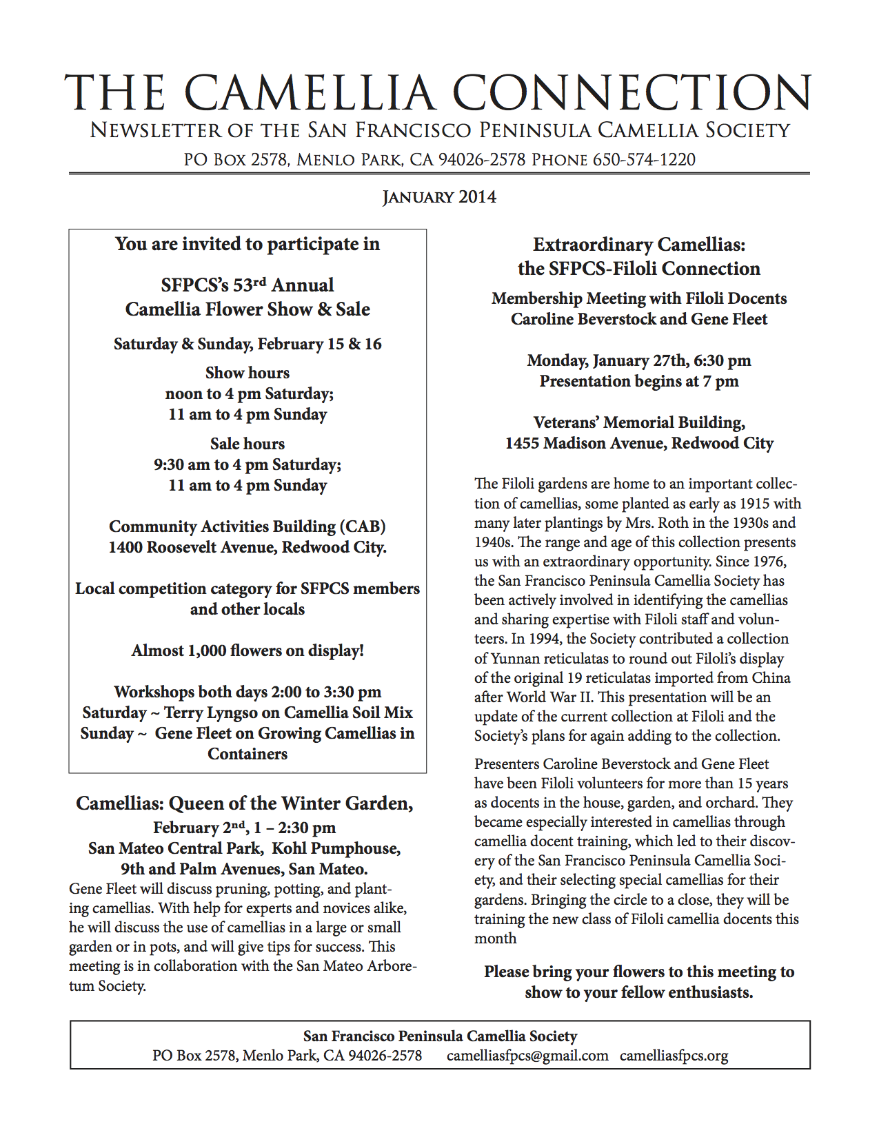 January 2014 newsletter p1