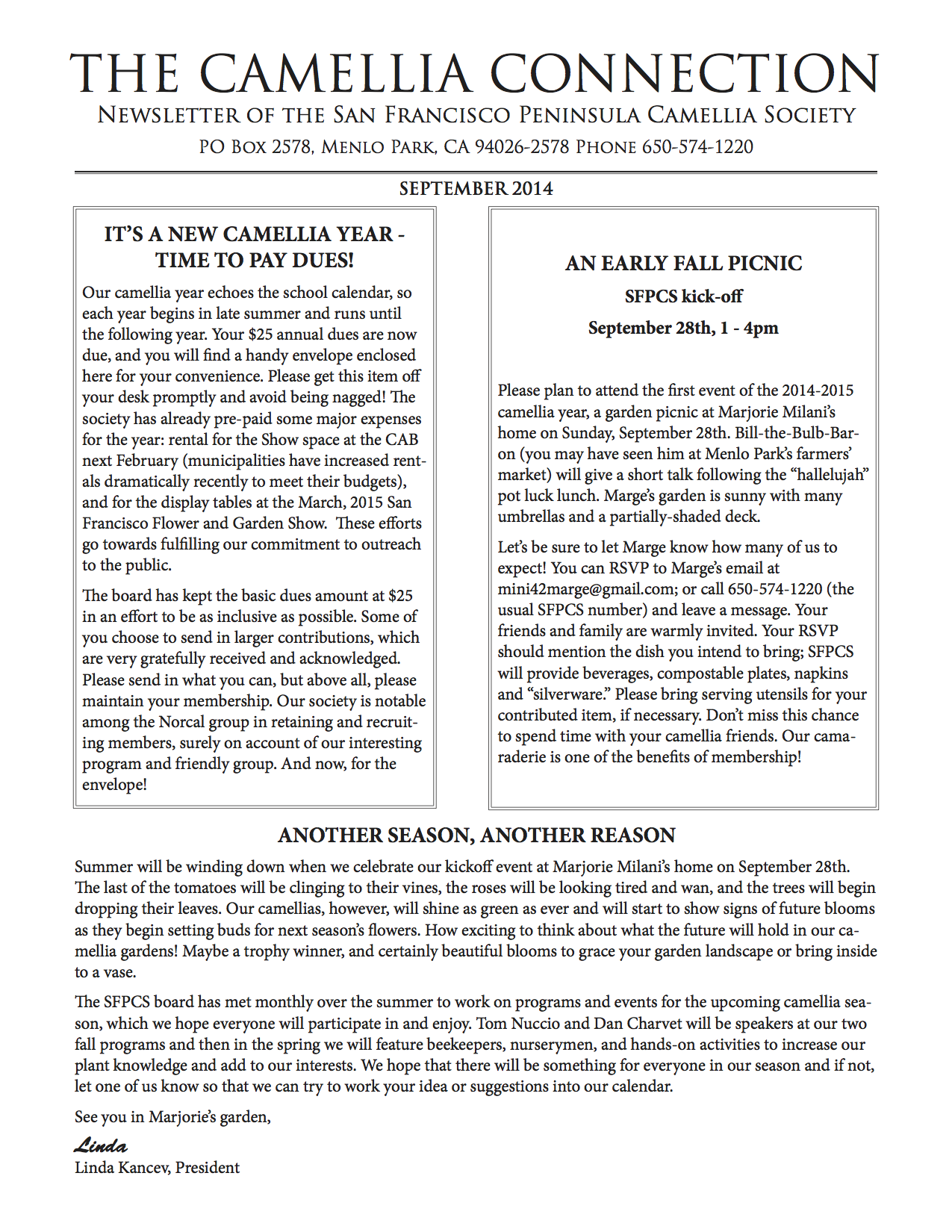September 2014 newsletter p1
