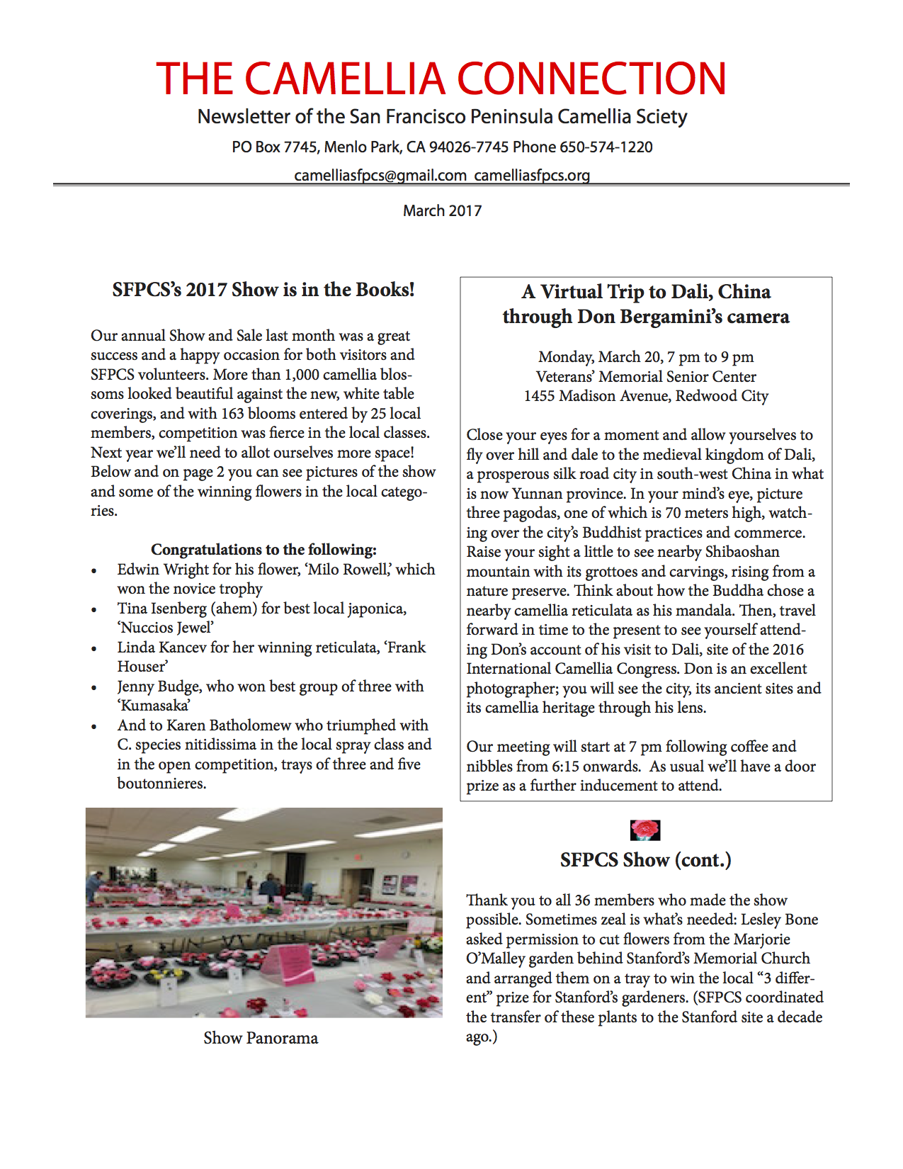 SFPCS March newsletter p1